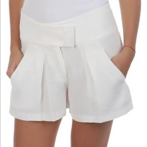 See by Chloe white pleated shorts FR 38